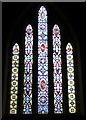 SW3834 : The east window, Church of St John the Baptist, Pendeen by Humphrey Bolton
