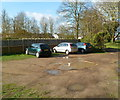 SO7407 : Small car park, Frampton on Severn  by Jaggery