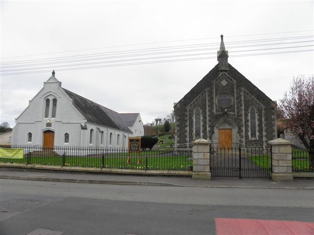 Church Hall and Presbyterian Church