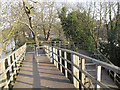 TQ1671 : Footbridge ramp by Stephen Craven