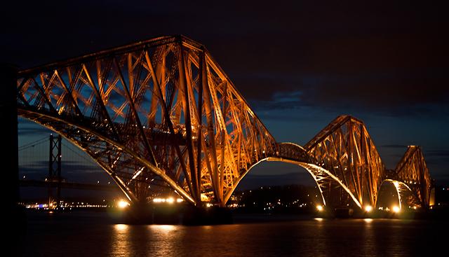Forth Bridge illumination