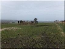 SW9462 : Abandoned mine shaft fenced-off near Castle-an-Dinas by David Smith