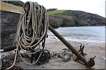 SW9980 : Anchor and ropes, Port Isaac by Philip Halling