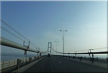 TA0224 : In the middle of the Humber Bridge by Richard Humphrey