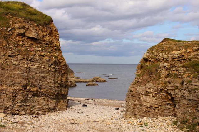 Gap in the cliffs to The Wherry
