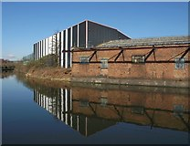 TQ2282 : Contrasting buildings, Grand Union Canal by Derek Harper