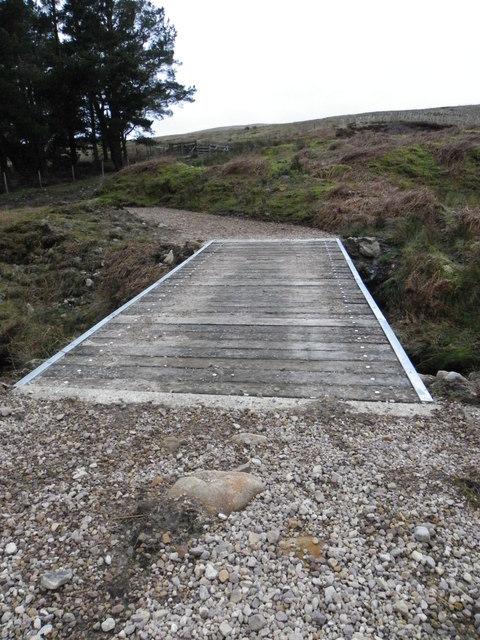 The new bridge over Near Costy Clough