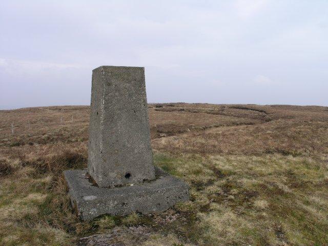 Triangulation pillar on Carrigbaun