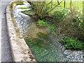 SU0325 : Wall beside the River Ebble by Maigheach-gheal