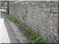SJ5659 : Parapet of Tilstone Bank canal bridge by John S Turner