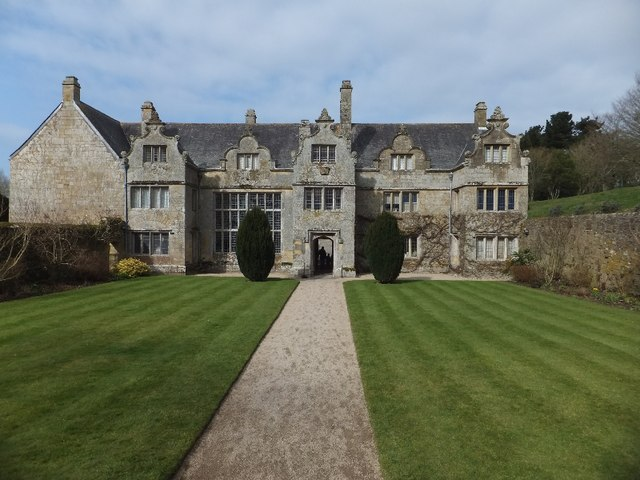 The main front of Trerice