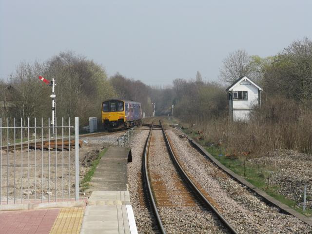 Train leaving Walkden station