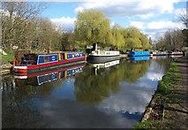 TQ1683 : Grand Union Canal at Ballot Box Bridge by Derek Harper