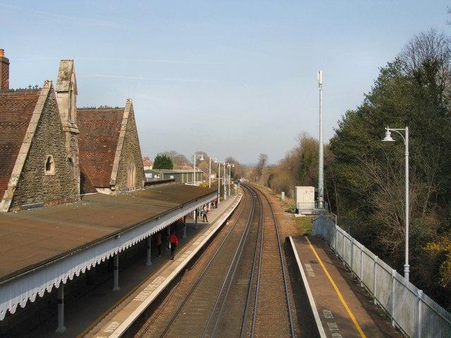 Battle Railway station looking north
