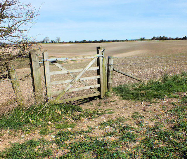 Hunting gate between fields