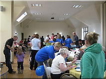 SP4476 : Charity event in the rebuilt village hall by Robin Stott
