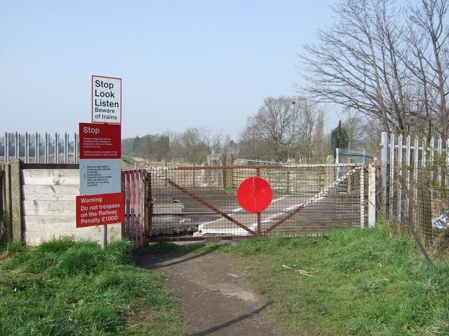 Gated level crossing, Penketh