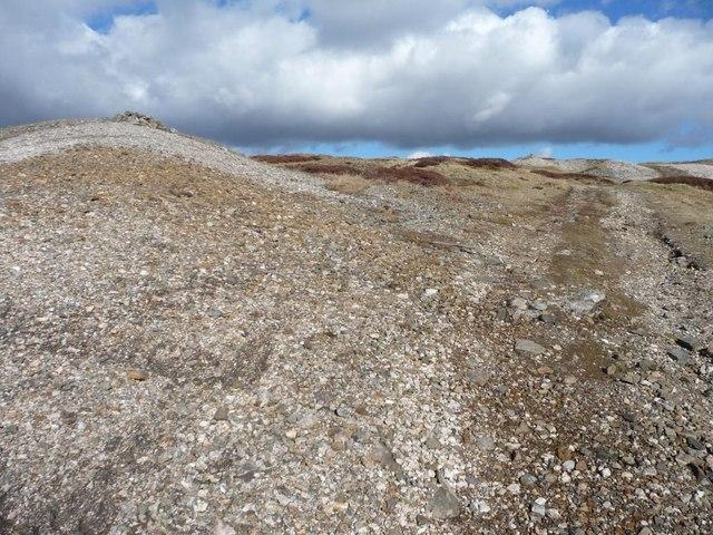Rocky ground, cloudy sky