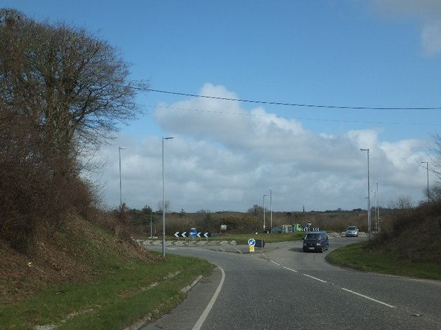 The roundabout at Halloon Farm
