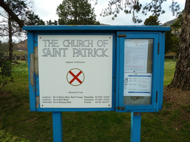 St Patrick's Church, Patterdale, Sign