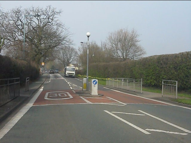 School crossing on Featherbed Lane