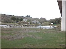 SW9873 : The north bank of the River Camel at Wadebridge by David Smith