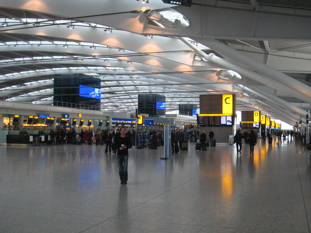 the main concourse in terminal 5 at     c  rod allday