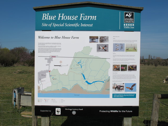 Blue House Farm Nature Reserve Information Board