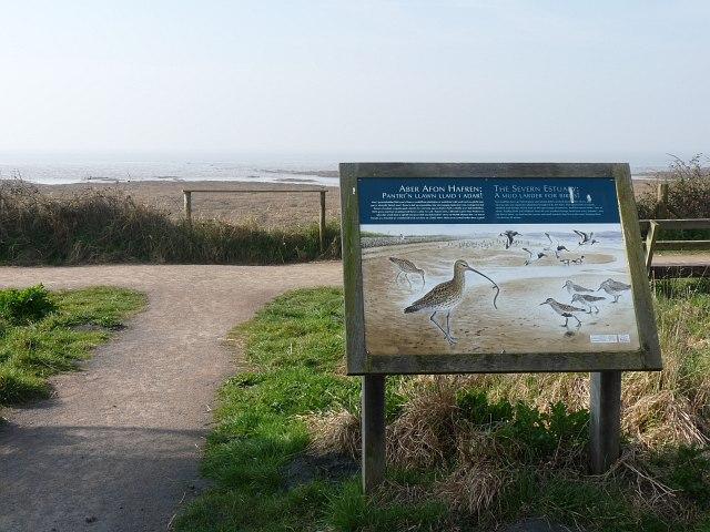 Information board, Newport Wetlands