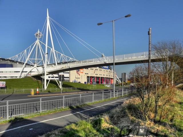 Footbridge over Burnden Way