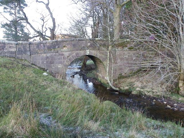 Giddy Bridge spanning Birkett Brook - Bowland Forest