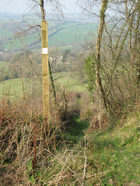 Usk Valley Walk Footpath & Finger Post