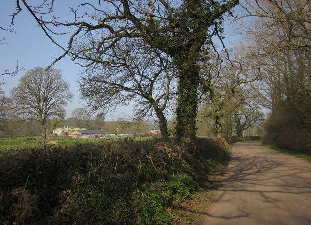 Lane past Wheatcroft Farm