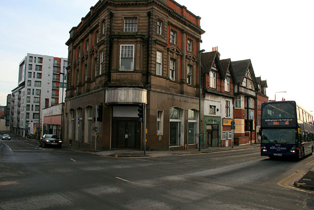 The junction of Queen Street and Arkwright Street by David Lally