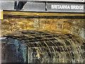 SD5805 : Britannia Bridge Inscription by David Dixon