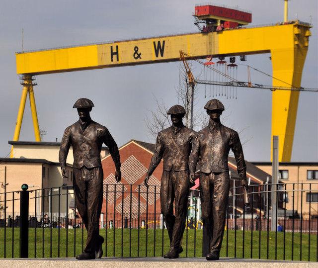 Titanic Yardmen sculpture, Belfast (1)