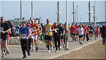 TQ8109 : Hastings Half Marathon 2012 by Pelham Beach by Oast House Archive