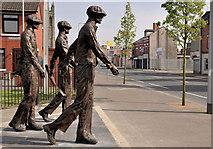 J3574 : Titanic Yardmen sculpture, Belfast (5) by Albert Bridge