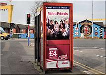 J3574 : Telephone boxes, Ballymacarrett, Belfast by Albert Bridge
