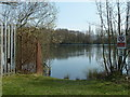 SK1782 : Fishing lake in a former quarrying area by Andrew Hill