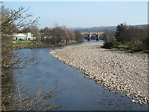 NY7063 : The River South Tyne downstream of Tyne Bridge by Mike Quinn