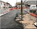 SJ9494 : New tarmac by Market Street by Gerald England