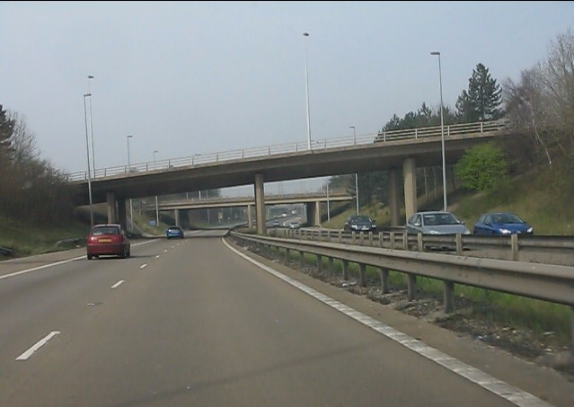 M53 motorway - Stoak interchange bridges