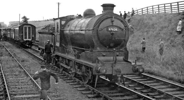 Ex-NB J37 0-6-0 on RCTS Borders Rail Tour at Greenlaw