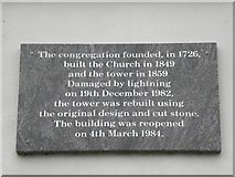 C3409 : Inscribed plaque, St Johnston Presbyterian Church by Kenneth  Allen