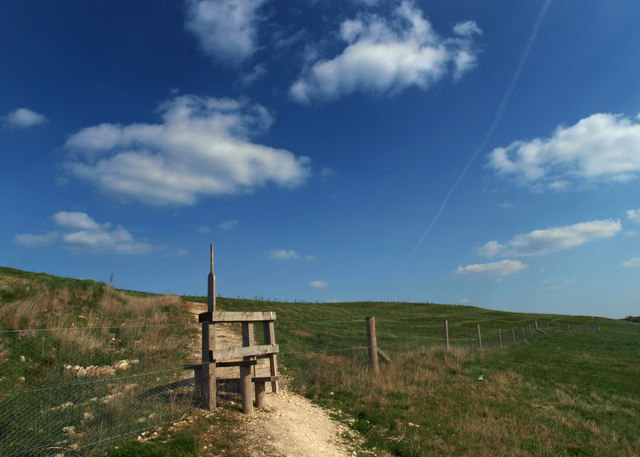 Trail onto the reclaimed Grimethorpe Colliery 'muck stack'