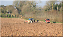 SX3258 : Tractor at work by roger geach