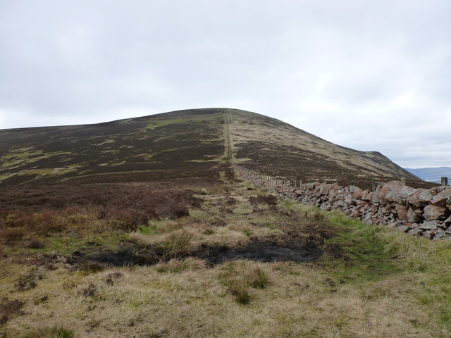 Ascending Tinto from the direction of Lochlyock Hill
