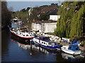 SU9081 : Boats Moored Above Maidenhead Bridge by Colin Smith