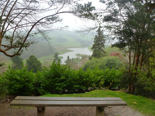 """The Lake from the """"Blue Route"""" - Caerhays Castle Gardens"""